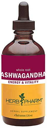 Herb Pharm Certified Organic Ashwagandha Extract for Energy and Vitality - 4 Ounce Ashwagandha Extract
