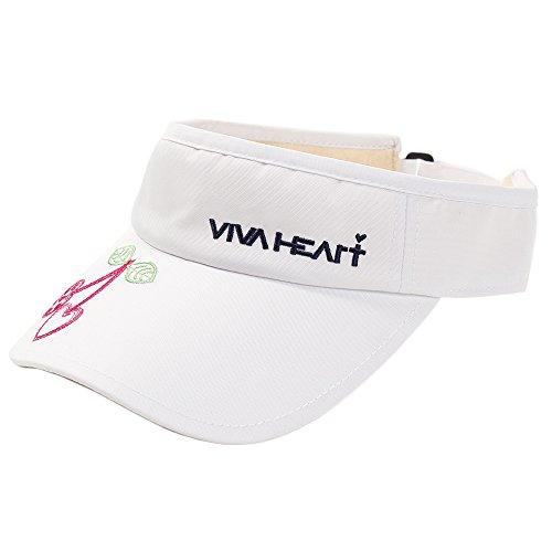 ビバハート VIVA HEART 帽子 オックス チェリー刺繍サンバイザー レディス
