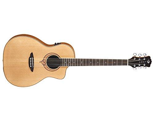 Luna SONGPAR Heartsong Parlor Size Spruce Top Grand Concert Acoustic Guitar, Rosewood Fretboard, Satin