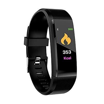 CamKpell ID115Plus BT4 0 Smart Bracelet Waterproof Wristband Heart Rate Monitor Blood Pressure Measurement Fitness Tracker Smart Band Black Estimated Price -