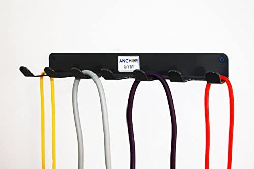 Anchor Gym R7 Seven Prong Storage Rack for Fitness Bands,Straps,Jump Ropes, Foam Rollers-(mounting Hardware Included) 41QiHYb3JwL