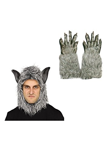 Wolf Beast Mask And Gloves Costume Set (Wolf Masks For Adults)