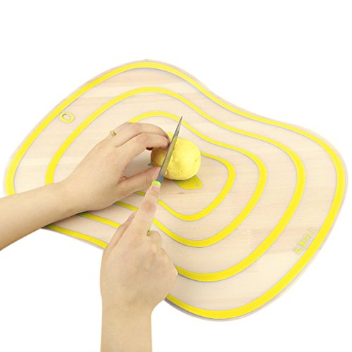 D.Roc Kitchen Chopping Blocks Tool Flexible Transparent Cutting Board Kitchen PP Cutting Boards Classification Chopping Board Hot (Yellow) ()