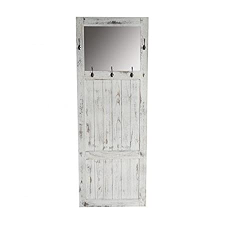 Décoshop26 Perchero - Mueble de Entrada con Espejo 180 x 65 ...