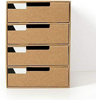 Caja De Almacenamiento De Escritorio 4 Cajones Gabinete A4 ...