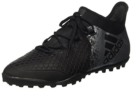 adidas Herren X 16.2 Cage Fußballschuhe, Schwarz (Core Black/Core Black/Solar Red), 42 2/3 EU