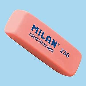 Caja 36 Gomas Plastico MILAN 236 Biselada Color Fluorescentes ...