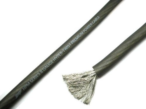 Stinger HPM Series 8 Gauge Matte Gray OFC Power Wire (By The ()