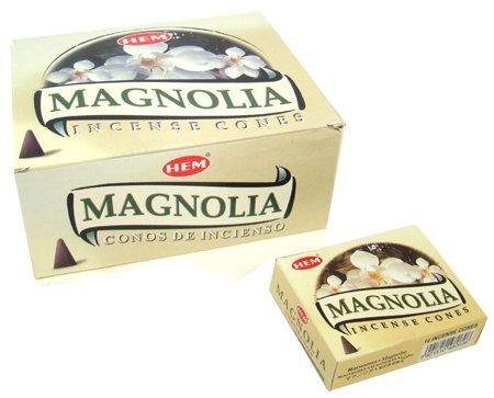 Magnolia Incense - Magnolia - Case of 12 Boxes, 10 Cones Each - HEM Incense From India