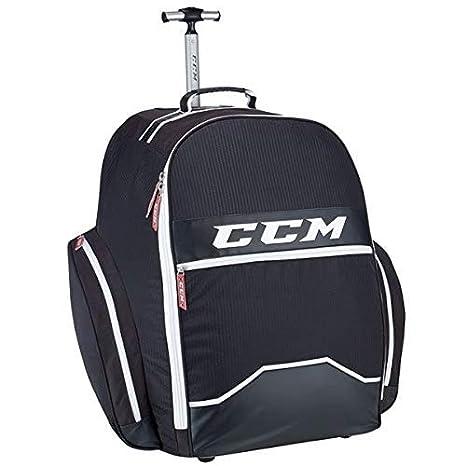 Amazon.com: CCM Hockey 390 - Mochila con ruedas, color negro ...