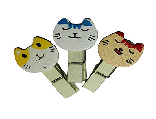 Clip Cats Fancy for Wooden Paper Clips Wedding Party Photo Clip Holder Office Accessories Paperclips