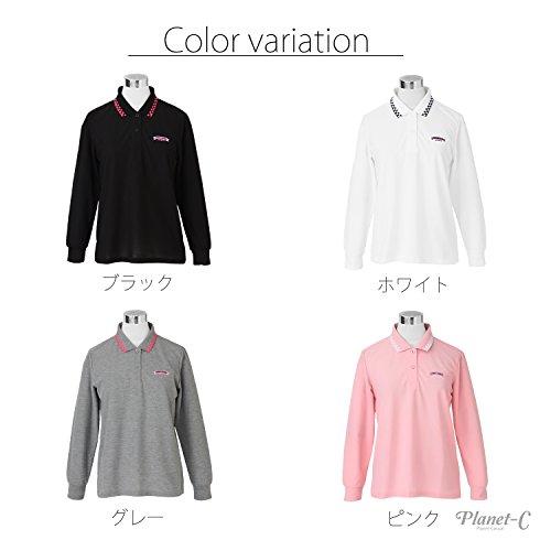 (ウッディワールド) WOODY WORLD レディース ゴルフ 吸汗速乾 鹿の子 ポロシャツ pc-602