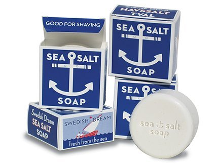 Swedish Dream Sea Salt Invigorating Bath Soap - Pack of 12, 4.3 oz Bars