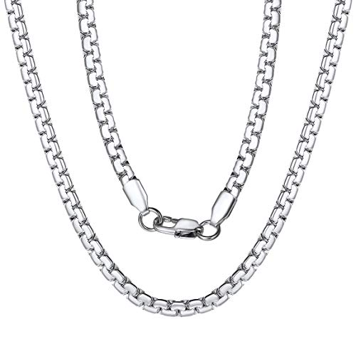316l Stainless Steel Box Chain Necklace for Men Women 20