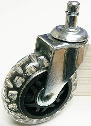 "oajen 3 ""Caster PVC Rollerblade rueda con 7/16"" x 7/"