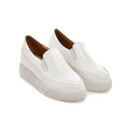 Balamasa Filles Talons Bas Motif De Pierre Blanc Imitation Cuir Pompes-chaussures