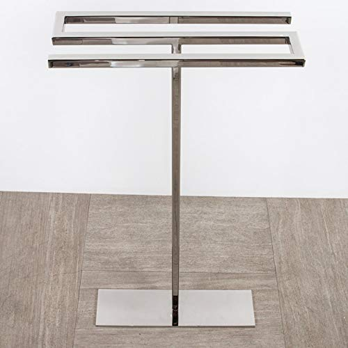 Floor-mount triple towel stand made of stainless steel, fixing floor kit included. W: 18