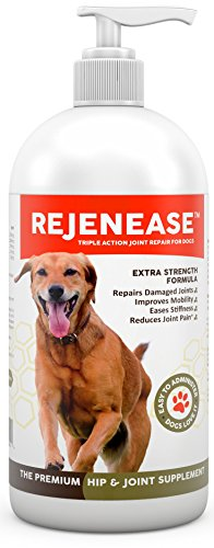 Premium Liquid Glucosamine Hip and Joint Supplement for Dogs - Fast Natural Arthritis Pain Relief and Better Mobility - Extra Strength with Chondroitin MSM and Hyaluronic Acid. Made in USA 32oz.