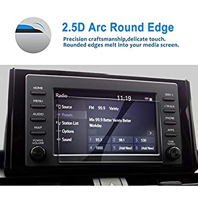 LFOTPP Car Navigation Screen Protector for 2020 R A V 4 RAV4 7-Inch, Tempered Glass 9H Hardness Car Infotainment Display Center Touch Protective Film Scratch-Resistant (2020 7-Inch)