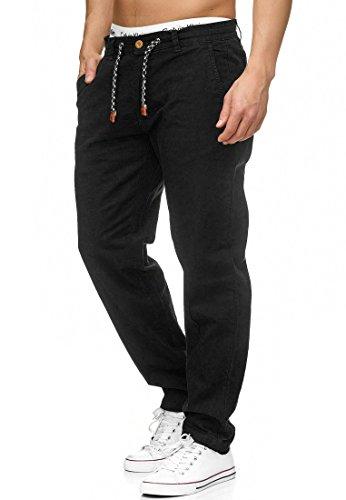 Indicode Herren Veneto Stoffhose aus 55% Leinen & 45% Baumwolle m. 4 Taschen | Lange sportliche Regular Fit Hose Moderne Baumwollhose Leinenhose Bequeme Freizeithose f. Männer