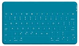 Logitech Keys-To-Go Ultra-Portable Stand-Alone keyboard for devices with iOS 7 and higher, Android 4.1 and higher, or Windows 7 and higher, Teal (920-006873)