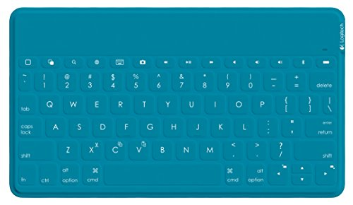 Logitech Keys-To-Go Ultra-Portable Stand-Alone keyboard for devices with iOS 7 and higher, Android 4.1 and higher, or Windows 7 and higher, Teal (920-006873) (Logitech Tablet Keyboard Android)