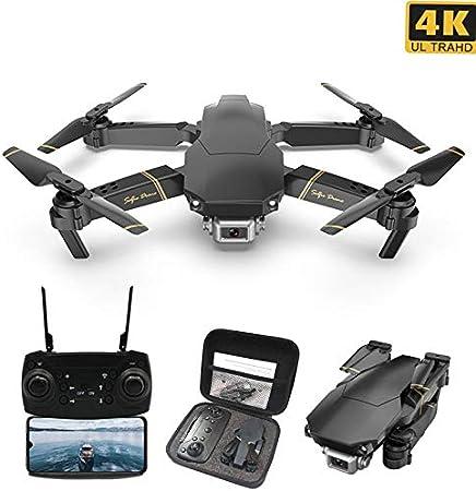 Opinión sobre elegantstunning GD89 - Dron teledirigido con cámara opcional 4K HD, FPV, WiFi, mantenimiento de altura, selfie, plegable, cuadricóptero 4k
