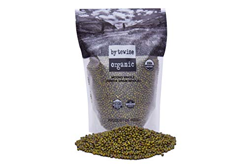 Green Mung Beans - Bytewise Organic Green Gram whole/ Mung bean, 2 lbs