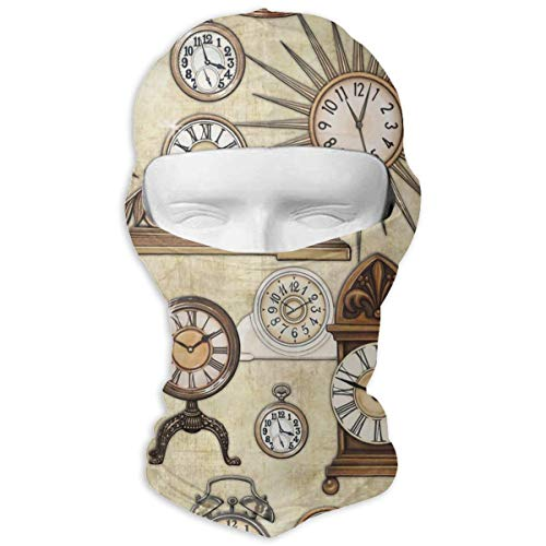 (Windproof Balaclava, Clock Cover Face Mask for Skiing Motorcycle White)