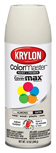 Price comparison product image Krylon K05351107 ColorMaster Paint + Primer,  Satin,  Almond,  12 oz.