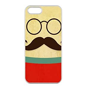 Welcome!Iphone 5/5S Cases-Brand New Design Funny Mustache Printed High Quality TPU For Iphone 5/5S 4 Inch -05