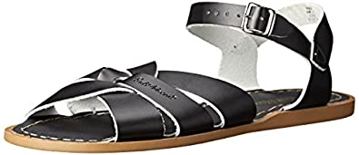 Salt Water Sandals by Hoy Shoe Original Sandal (Toddler/Little Kid/Big Kid/Women's), Black, 4 M US Toddler