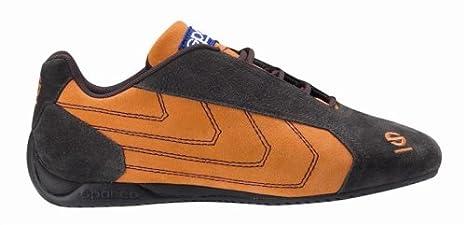 Amazon.com: Sparco PITLANE lona Zapato, 38, Marrón/Naranja ...
