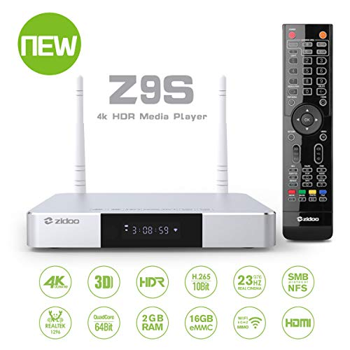 Zidoo Android TV Box Z9S Android 7.1 Media Player for Android 2GB/16GB/4K/HDR Smart TV Box Set Top Box HDR Android Top Box