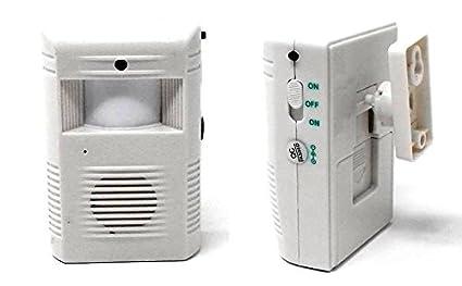 Timbre con Detector de Movimiento Alarma Sensor Electrónico Infrarrojo Ref:3940