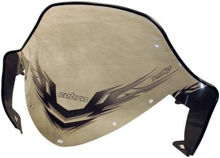 Low height PowerMadd 11921 Cobra Windshield for Polaris IQ White