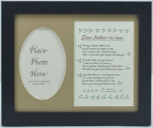 All Things For Mom Dear Mother In Law Picture Frame with Burlap Mat (8