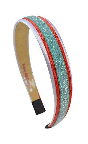 Football Team Fan Glitter and Grosgrain Arch Headband by Funny Girl Designs (MIAMI)