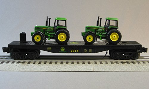 Operating Lionel Trains (LIONEL JOHN DEERE FLATCAR WITH 2 FARM TRACTORS 1:64 o gauge)