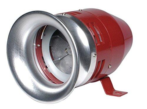 KPS 203100023 motorisierte Meerjungfrauen-Sirene, Mini-MS, 230 Vac Zug, 180 mA Verbrauch, 110 dB Ton, IP 54, 75 mm Durchmesser, 83 mm Hö he, 82 mm Lä nge