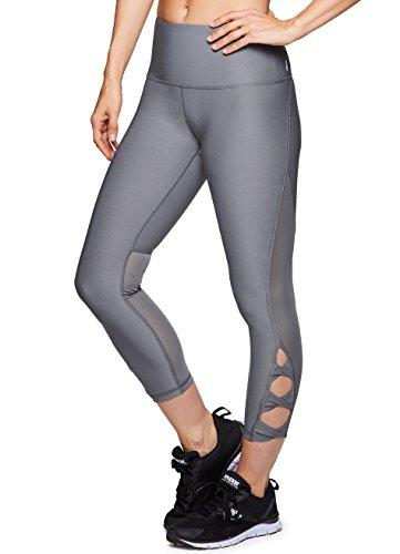 RBX Active Women's Yoga Workout Mesh Leggings Grey M