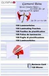 Olympia 9179 lamineerfolie 125 micron 100 x visitekaartjes