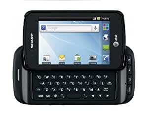 Sharp FX Plus Unlocked GSM Phone with Android 2.2 OS, 2MP Camera, Touchscreen, QWERTY Keyboard, Wi-Fi and Bluetooth - Black