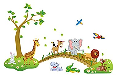 EZSpace Wall Stickers Decals Peel and Stick Vinyl Mural Decals for Kids Nursery Wall Art Room Decor