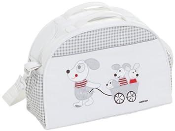 Cambrass Wickeltasche mit Maus-Applikation - Kollektion 75 - Weiß - Grau
