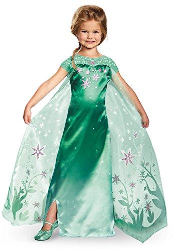 Deluxe Frozen Costumes - Elsa Frozen Fever Deluxe Costume, One Color, 3T-4T