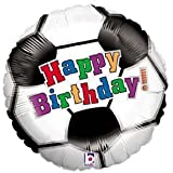 "Single Source Party Supplies - 18"" Soccer Ball Birthday Mylar Foil Balloon"