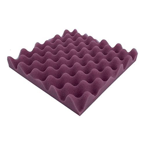 (EOWEO Decals,Acoustic Foam Panel Sound Stop Absorption Sponge Studio KTV Soundproof(25x25x4cm,Purple))