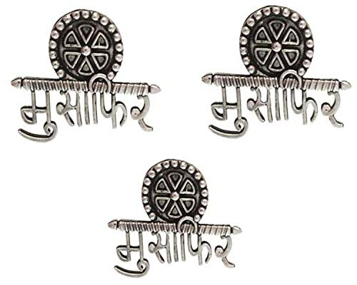 Total Fashion Traditional Metal Oxidised Silver Stud Earrings for Women & Girls