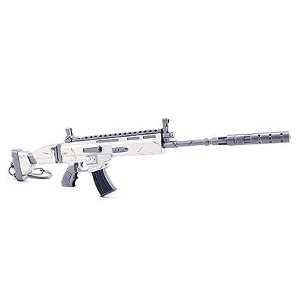 Amazon.com: Rifle de asalto con silenciador modelo 1/6 de ...